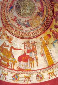 Thracian Tomb - Kazanlak - Bulgaria. UNESCO Round burial chambers decorated with amazing murals .http://historyandknowledge.blogspot.com/2015/01/thracian-treasures-bulgaria.html?spref=tw