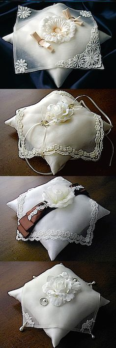 ateliersarah's ring pillows