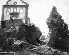 Derrubada da Igreja de S. Sebastião, Morro do Castelo. Rio de Janeiro, 1922.