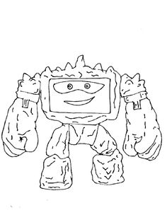 Toy Story 3 Chunk Coloring Page