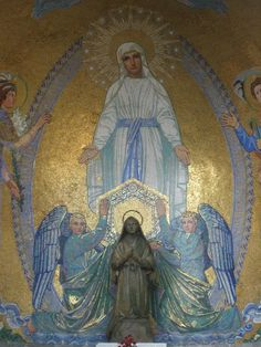 Mosaic of Our Lady of the Immaculate Conception (found outside the Lower Basilica)