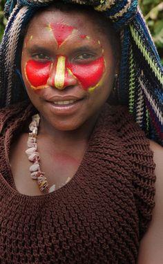 Huli Girl, Papua New Guinea