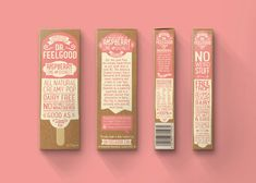 Dr Feelgood Ice Pops on Packaging of the World - Creative Package Design Gallery Retro Packaging, Ice Cream Packaging, Candy Packaging, Craft Packaging, Food Packaging Design, Packaging Design Inspiration, Packaging Ideas, Branding Design, Logo Design