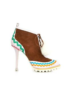 Sophia Webster Katy Suede and Leather Ankle Boot, $497; matchesfashion.com                     - ELLE.com