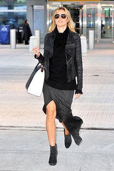 Heidi Klum sashays through NYC's JFK airport on Jan. 31