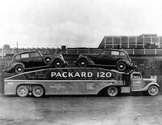 Vintage shots from days gone by! Antique Trucks, Vintage Trucks, Old Classic Cars, Classic Trucks, Cool Trucks, Big Trucks, Semi Trucks, Car Carrier, Tow Truck