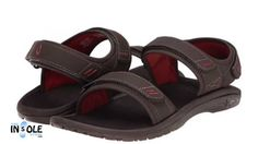 Olukai Hokua Pahu Dark Java & Ember Adjustable Sandals for Men @TheInsol...
