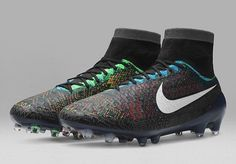 The Nike Magista Obra 2016 Black History Month Boot introduce a stunning design, set to be worn by Blaise Matuidi. The Nike Magista 2016 BHM Soccer Cleat will be launched in February as limited edition. Mens Soccer Cleats, Soccer Gear, Soccer Boots, Soccer Drills, Football Shoes, Nike Soccer, Play Soccer, Nike Football, Football Cleats