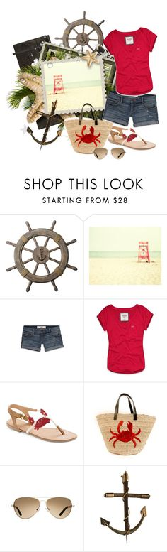 """""""Crabby Summer"""" by xoxgidgetxox ❤ liked on Polyvore featuring Drift Away, Abercrombie & Fitch, Felix Rey, TOMS and Alexis Bittar"""