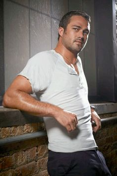 Sure, he just plays one on TV, but Taylor Kinney is one sexy fireman. The Chicago Fire star proposed to Lady Gaga over the weekend, so to celebrate the Jesse Spencer, Lady Gaga, Taylor Kinney Chicago Fire, Fall Tv, Drama, Hot Actors, Hottest Actors, Raining Men, Good Looking Men