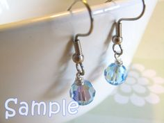 Swarovski crystals on the hooks! Cute and easy!