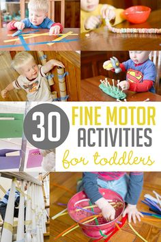 30 Fine Motor Activities for Toddlers! Pinch! Thread! Trace!