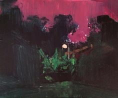 1 of three landscapes from the other night, the sky was so pink. ~for sale~ #acrylic #landscape #nightlife #streetlight #insomnia