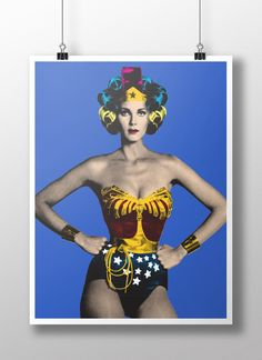 """WONDER WOMAN CON ROLOS """"Rolos & Icons"""" is the new exhibit by New York based artist M.Tony Peralta. Rolos & Icons is a collection of screen-printed pai"""