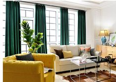 Pair of Emerald Green Velvet Curtains Bedroom Velvet #velvetcurtains #velvetcurtainsgreen #velvetcurtainsemerald