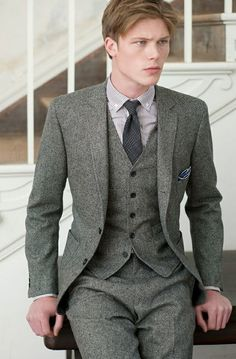 Three piece suit.