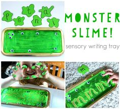 Make a monster slime sensory writing tray for such a fun way to learn to write the alphabet, practise phonics, name writing and sight words! The googly eyes are so much extra fun and this theme could be paired with many fantastic monster story books too. Here's the next in our ongoing sensory writing tray...Read More »