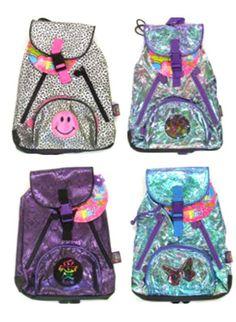Vintage Lisa Frank Rainbow Leopard Backpack Clear