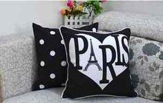 shabby paris | Details zu Shabby Schick Paris Deko Kissen Hülle 45 x 45 cm