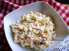 Sałatka Królewska. Świetna na imprezy i przyjęcia. Chicken Egg Salad, Savory Pastry, Polish Recipes, Polish Food, Vegetable Salad, Tortellini, Salad Recipes, Macaroni And Cheese, Potato Salad
