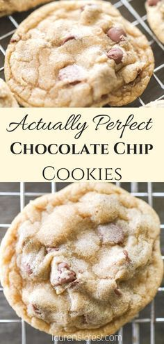 Perfect Chocolate Chip Cookies - Chocolate Chip - Ideas of Chocolate Chip - This is the best chocolate chip cookie recipe! Soft baked chewy very chocolatey and impossible to ruin. All chocolate chip cookies should be this easy and this good! Chocolate Chip Granola Bars, Best Chocolate Chip Cookies Recipe, Chocolate Cookies, Chocolate Recipes, Chocolate Chip Dessert, Chocolate Chip Cookies Chewy, Chocolate Chocolate, Brownie Cookies, Easy Cookie Recipes