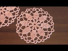 Сrochet doily Flower pattern Part 1 - YouTube