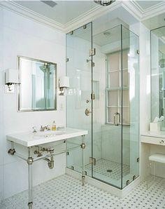 Bathroom ideas on pinterest tile shower tiles and bathroom for Bathroom design 3x3