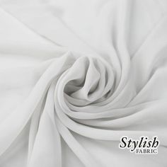 Details about 40 Colors !Hi-Multi Chiffon Fabric by the Yard or Swatch 70 GSM- Style 500 2019 40 Colors !Hi-Multi Chiffon Fabric by the Yard or Swatch 70 GSM- Style 500 White Chiffon, Sheer Chiffon, Sheer Dress, Chiffon Fabric, Fabric Tape, Fabric Sewing, Pattern Sewing, Chiffon Material, Fabric Suppliers