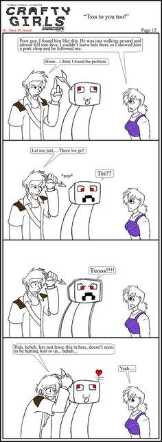 Minecraft Comic: CraftyGirls Pg 12 by TomBoy-Comics on deviantART