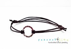 Karma Circle Wish bracelet // dark brown waxed by peacockandlime
