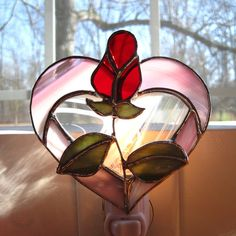 Beautiful Love Stained Glass Night Light