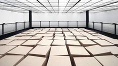 Zimoun + Hannes Zweifel : 20 prepared dc-motors, 81 cardboard boxes 70x70x70cm, 2014. 20 prepared dc-motors, 81 cardboard boxes 70x70x70cm Z...