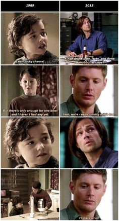 Moose may be 'mature' but Dean has had to become an adult at a young age. Far before Sam