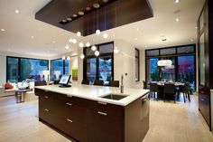 Wood ceiling accent