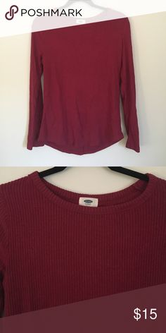 Old Navy • coziest long sleeve shirt Super soft, loose fitting long sleeve. Burgundy. Old Navy Tops Tees - Long Sleeve