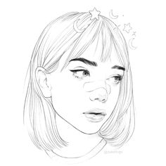 how to draw flower Girl Drawing Sketches, Cool Art Drawings, Pencil Art Drawings, Realistic Drawings, Easy Drawings, Portrait Sketches, Drawing Ideas, Aesthetic Drawing, Aesthetic Art