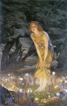 A2 Midsummer Eve Edward Robert Hughes 1908 Picture print on Canvas ...
