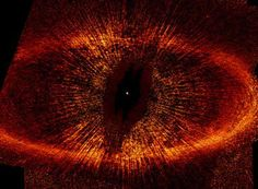 "ring of dust around star Fomalhaut, or as I call it ""The Eye of Sauron""  stunning no matter what its name it"