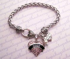 Mother of the Bride Personalized Name Bracelet by 1TheCherryOnTop