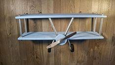 GROTE Hand vervaardigde vliegtuig plank Decor van het