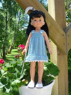 Robe pour poupée Chérie (Adaptation du modèle de Nathalie du blog  « Histoires de Poupées » du 15/06/2016): 1) http://marieetlaines.canalblog.com/archives/2016/06/30/34014142.html 2) http://p7.storage.canalblog.com/71/62/1066432/111370084.pdf