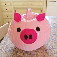 pet pig full grown -- CLICK VISIT link above for more details This Little Piggy, Little Pigs, Halloween Pumpkins, Halloween Crafts, Pig Halloween, Happy Halloween, Pumpkin Art, Pumpkin Painting, Pumpkin Ideas