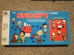 The Snoopy Game 1984 Milton Bradley Board Games