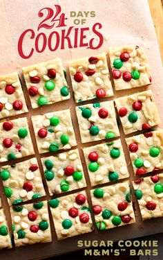 Get this fun and festive cookie bar recipe by signing up for Betty's 24 Days of Cookies countdown! We handpicked 24 of our best cookies—from fan faves and can't-beat classics to a few new surprises created in the Betty Crocker Kitchens. Sign up now to get recipes delivered daily, starting November 27th!