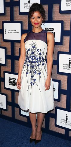 Gugu Mbatha-Raw's Red Carpet Style - In CarolinaHerrera, 2015 from InStyle.com
