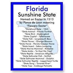 Things I need to know about Florida for GS celebrating community badge