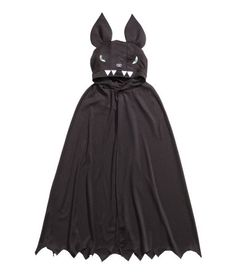The cape has a hood with ears, embroidered eyes, an embroidered nose, sewn-on teeth and a concealed press-stud at the neck. Deco Haloween, Halloween, Black Kids, Cool Girl, Teeth, Cape, Fancy, Formal Dresses, Clothes