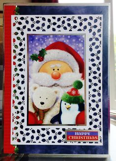 (166) Christmas Card (7ins x 4ins) makings from Hunkydory