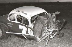 Dirt Track Racing, Nascar Racing, Auto Racing, Nascar Wrecks, Bill Harris, Auto Body Repair, Rusty Cars, Old Race Cars, Vintage Race Car