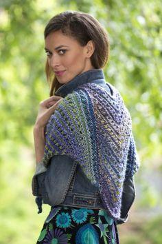 Simple Lace Shawl free pattern